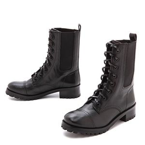Tory Burch broome combat boots